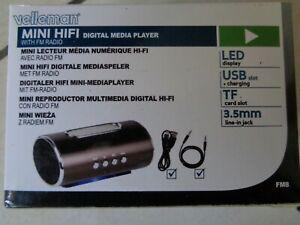 Mini lecteur média numérique velleman hi-fi avec radio fm