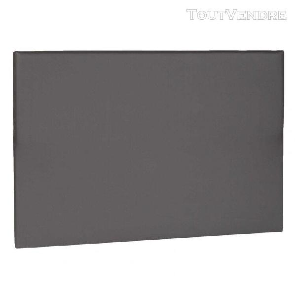 Tête de lit déco simili cuir gris foncé 160 - someo
