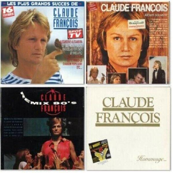 Claude françois 4lp: album souvenir, remix 90, hommage, les