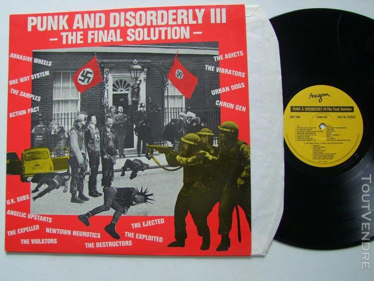 Punk and disorderly 3 iii final solution vinyle lp 33t orig