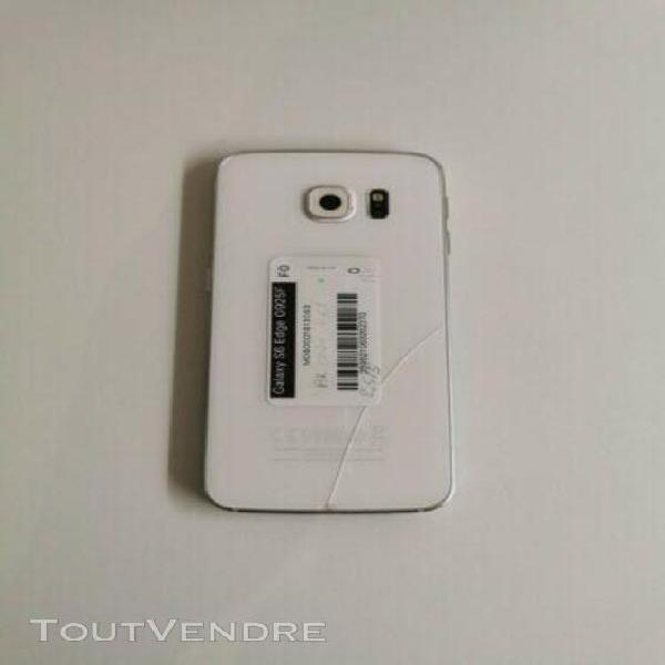 Samsung s6 edge grade c-: léger défaut lcd + fissure verre