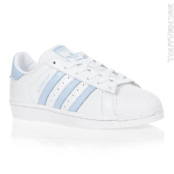 Adidas originals baskets ef9247 - femme - white-glow blue-co