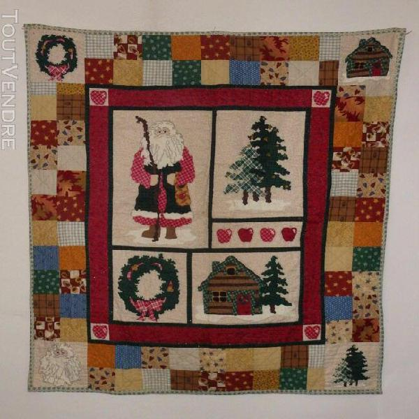 Little quilt christmas hand made panel with additions (vc30)