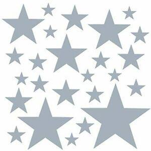 Premyo set de 25 stickers muraux enfants étoiles -