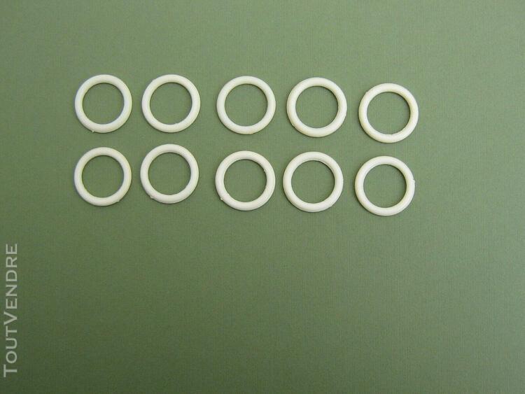 10 anneaux fermes blancs et fins en pvc pour rideau de douch