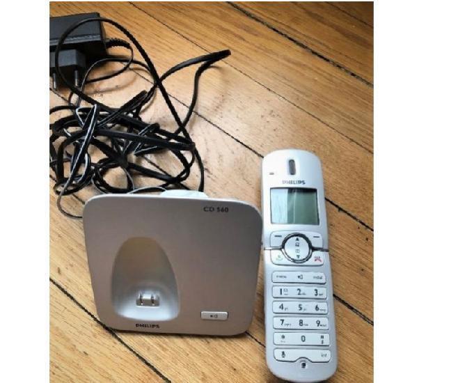 Téléphone philips cd560 e sans-fil avec un grand écran