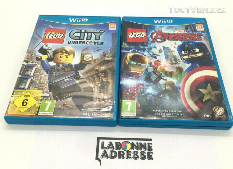 Wii u 2 jeux video lego avengers + lego city undercover - co