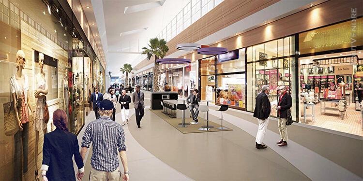 Local commercial 220 m2 en galerie commerciale