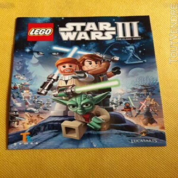 Notice seul jeux vidéo playstation ps3: lego star wars 3