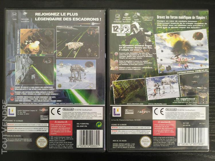 Star wars rogue leader + star wars rebel strike - nintendo g