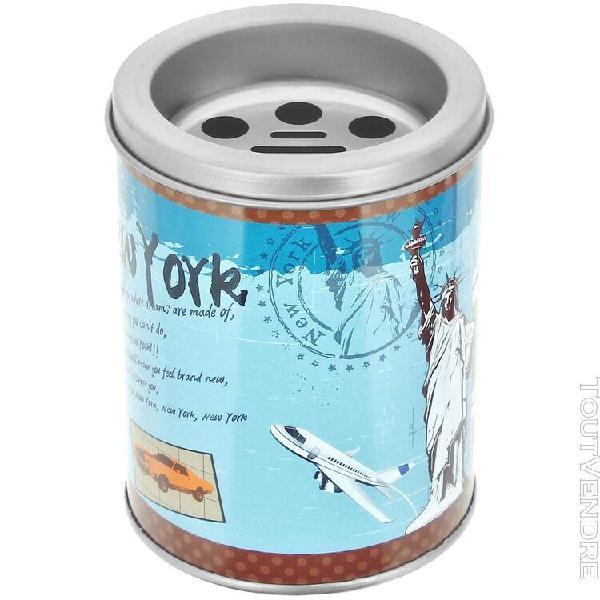 Cendrier pot a crayon 2 en 1 avec couvercle design new york