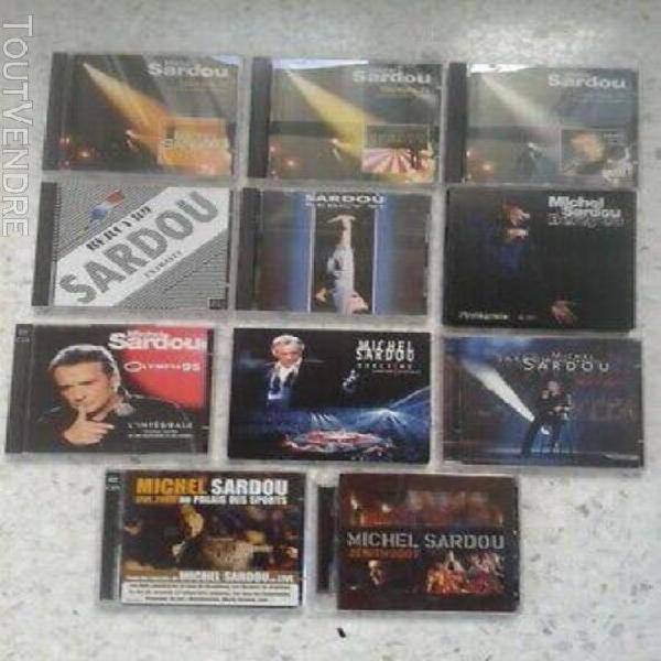 Grande rare collection 18 cds live de michel sardou: zénith