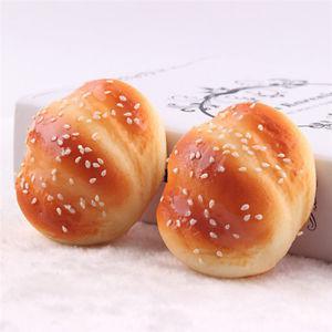 Kawaii buns toast bread cartoon soft kids toy cellphone