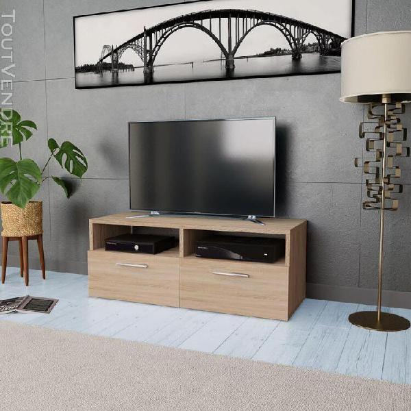 Meuble tv aggloméré 95 x 35 x 36 cm chêne-xiu
