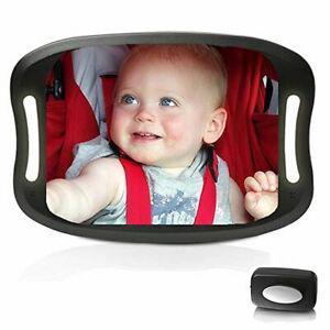 Miroir auto pour bébé avec télécommande éclairage led