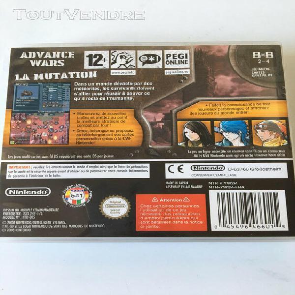Advance wars dark conflict fr complet jeu nintendo ds 2ds 3d