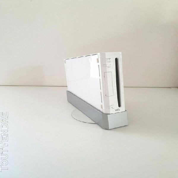 Console nintendo wii blanche + socle compatible jeux game cu