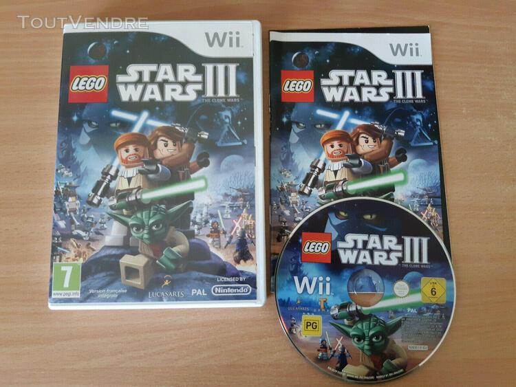 Jeu wii lego star wars iii 3 the clone wars nintendo complet