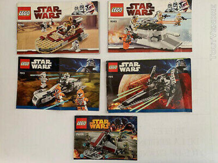 Lego star wars lot 5 notices originales # 1