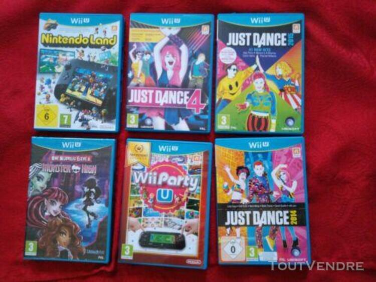 Lot 6 jeux wiiu wii party just dance etc