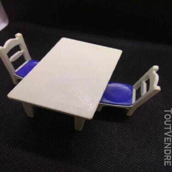 Playmobil (r239) maison moderne - meuble table blanche cuis