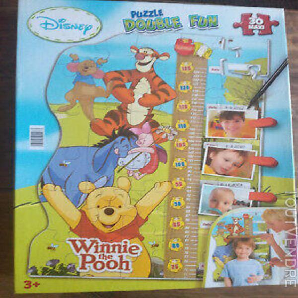 Puzzle double fun - disney- winnie l'ourson - tbe