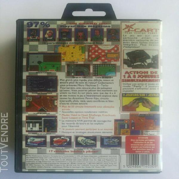 Sega mega drive - micro machines 2: turbo tournament (boîte