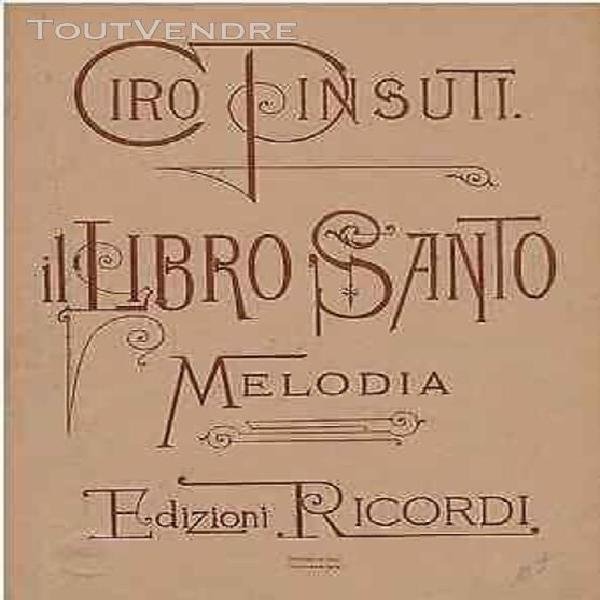 Ciro pinsuti il libro santo melodia partition chant & violon