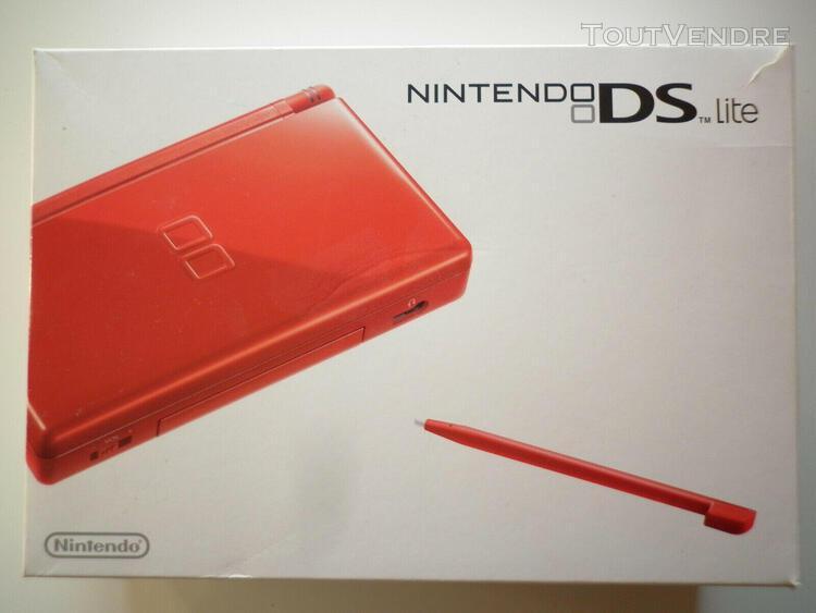 Console nintendo ds lite de couleur rouge