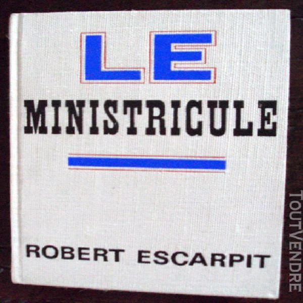 Le ministricule de r. escarpit ex numéroté