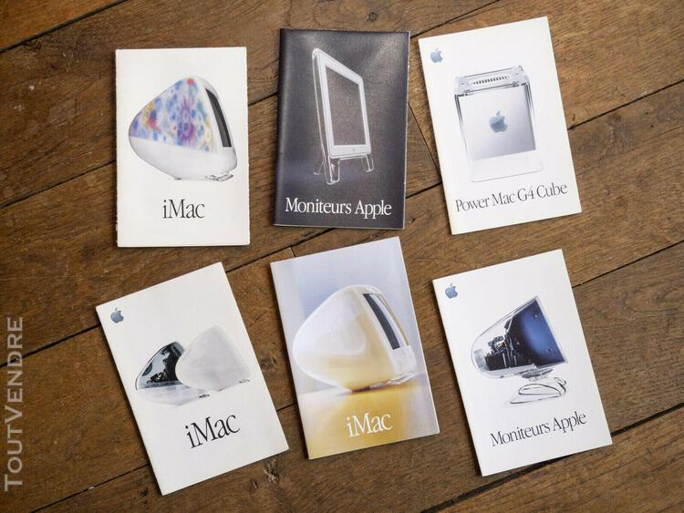 Lot of 6 apple mini advertising booklets imac, g4 cube, appl
