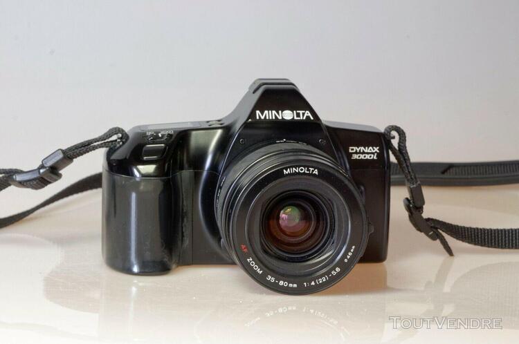 Minolta dynax 3000i + zoom minolta af 35-80mm + flash 314i +