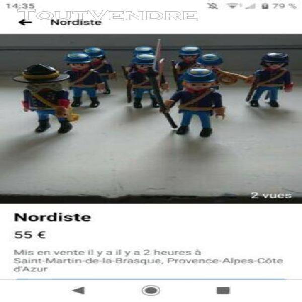 Playmobil soldat nordistes