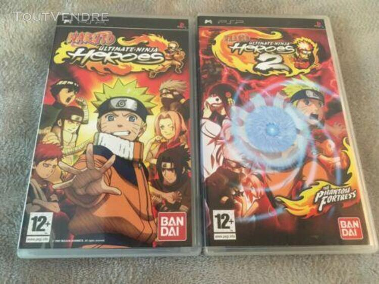Psp naruto ultimate ninja heroes + locoroco lot 3 jeux psp