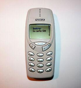 Téléphone mobile - nokia 3310 - gris/argent - sans