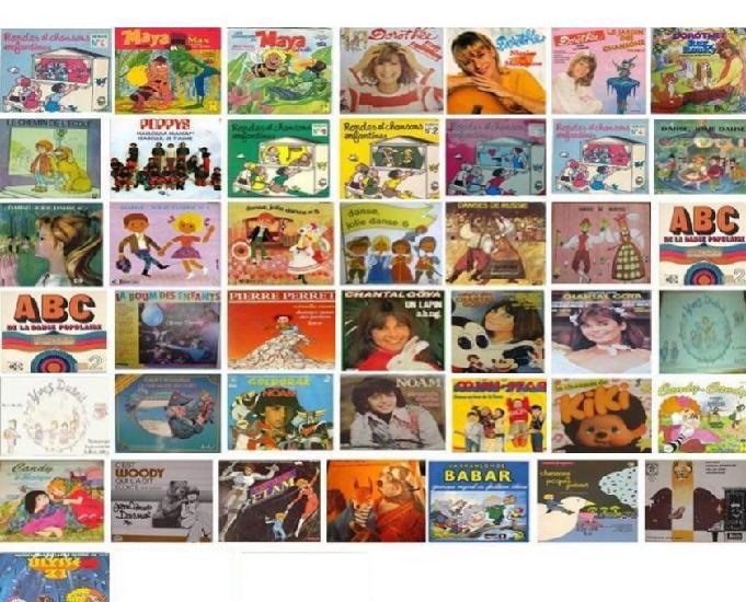 Vinyls 45 tours francais, etrangers, enfants