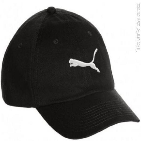 Casquette puma homme noir logo brodé cat blanc
