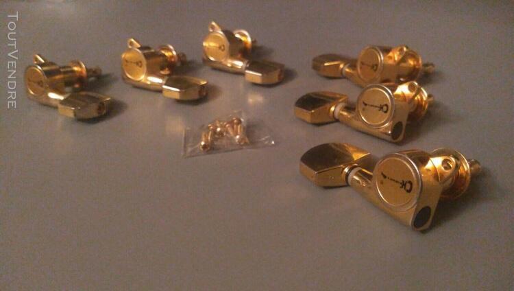 Mécaniques guitare charvel jackson dorées 3r3l à bain
