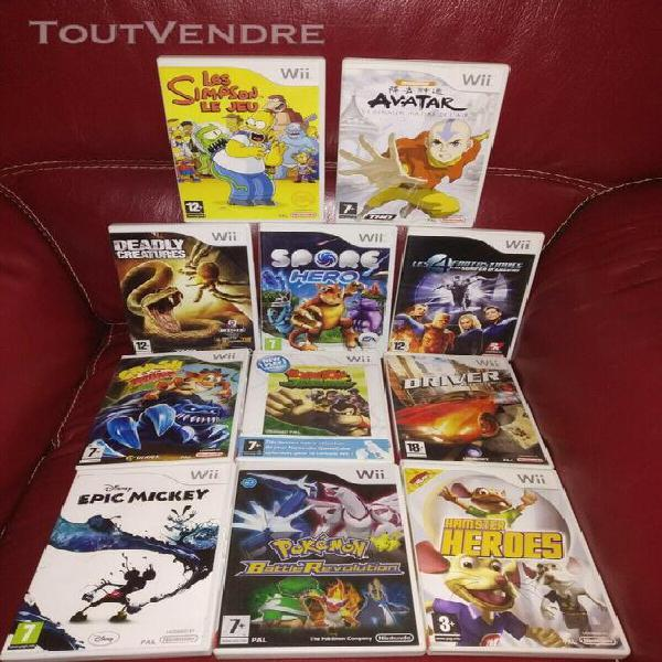Jeux wii pokemon simpson mickey crash bandicoot donkey