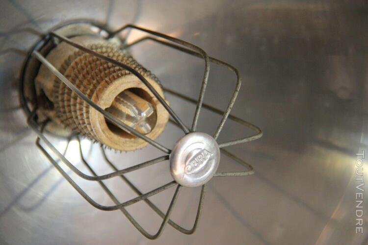 Lampe / radiateur parabolique cobra pied fonte émaillée