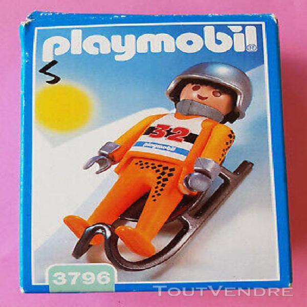 Playmobil boite vide luge vintage