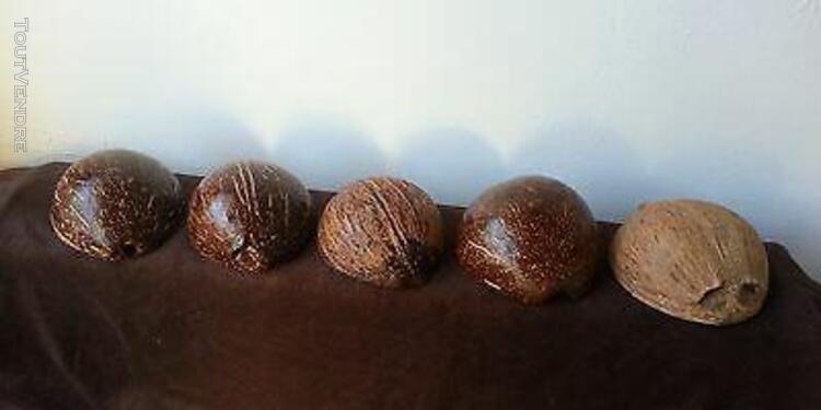 Bols coconut shell 100% natural hand made caraïbes -