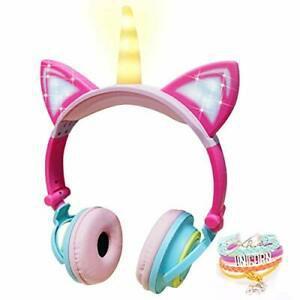 Casque audio pour filles,casques licorne d'écoute