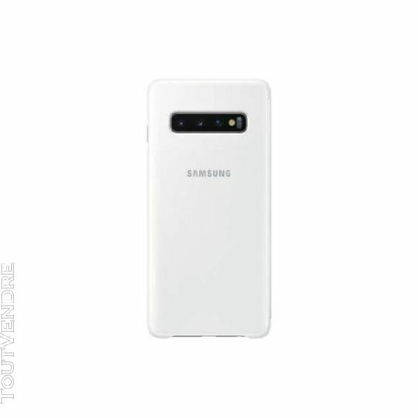 Etui samsung s10+ clear view cover s10+ blanc - produit orig