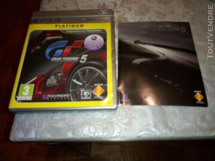 Gran turismo 5 platinum - jeux ps3 / avec notice