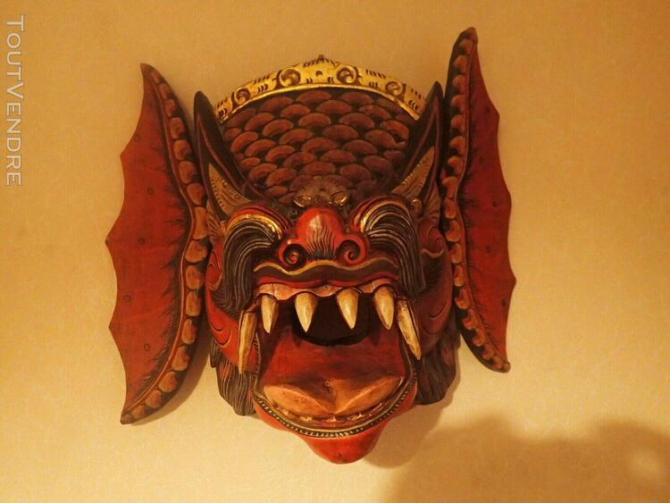 Masque de dragon chinois énorrrrme et effrayant..40 x 24 cm