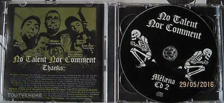 Melaena no talent nor comment double cd rock francais punk a