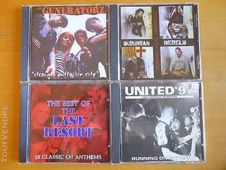 Lot 4 cd oi punk last resort,united 97,suburban rebels,the g