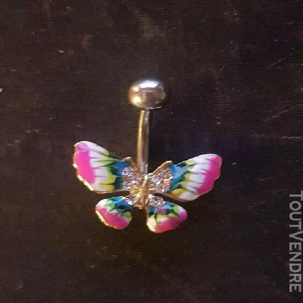 Neuf piercing nombril papillon
