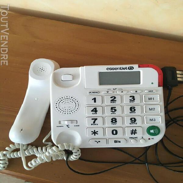 Téléphone filaire grosses touches marque essentiel comme